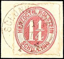 """2466 """"SCHÖNWALDE 3.1.67"""" - K1, Vollständiger Abschlag Auf Briefstück Mit 1 1/4 S., Seltener Stempel, Katalog: 22 BS - Schleswig-Holstein"""