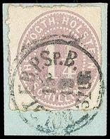 """2471 """"HOLST. EB.P.SP.B. 3 ZUG 15.10."""", Schwarzer K1 Klar Und Komplett Auf Pracht-Briefstück Mit 1 1/4 S. Lebhaftbraunpur - Schleswig-Holstein"""