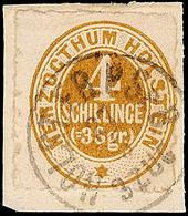 """2472 """"HOLST. EB.P.SP.B. 3 ZUG 27.5."""", Schwarzer K1 Klar Und Praktisch Komplett Auf Pracht-Briefstück Mit 4 S./ 3 Sgr. Br - Schleswig-Holstein"""