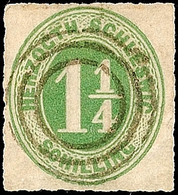 """2478 """"(KEITUM)"""", Dreiringstempel Mit Großem Innenkreis Ohne Nummer, Klar Und Zentrisch Auf 1 1/4 S. Olivgrün, Kabinett,  - Schleswig-Holstein"""
