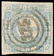 """2494 """"125"""" - Neustadt, Recht Klar Und Zentrisch Auf Voll- Bis Breitrandiger 1 1/4 S. Dunkelgrauultramarin, Pracht, 75.-  - Schleswig-Holstein"""