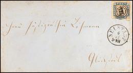 """2495 """"125"""" Nebst K1 """"NEUSTADT 6 11 (1864)"""" Auf Briefkuvert 1 1/4 S. über Bahnpost Elmshorn-Itzehoe Nach Glückstadt, Pati - Schleswig-Holstein"""