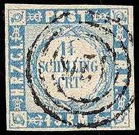 """2496 """"126"""" - Nortorf, Etwas Undeutlich Und Fast Zentrisch Auf Voll- Bis Sehr Breitrandiger 1 1/4 S. Dunkelgrauultramarin - Schleswig-Holstein"""