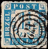 """2517 """"172"""" - Marne, Klar Und Fast Zentrisch Auf 1 1/4 S. Grauultramarin/weißrosa Durchstochen, Pracht, 25,- + 120,-, Kat - Schleswig-Holstein"""