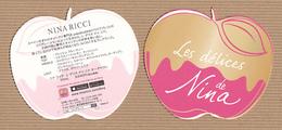 CC Carte Parfumée 'NINA RICCI' LES DELICES Perfume Blotter Card JAPAN - Perfume Cards