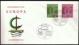 Germany Bonn 1966 / Europa CEPT / FDC - Europa-CEPT