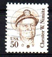 USA. N°1561 Oblitéré De 1985. Amiral Chester W. Nimitz/Guerre Du Pacifique. - 2. Weltkrieg