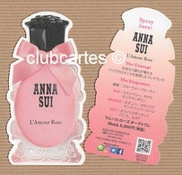 CC Carte Parfumée ANNA SUI 'DREAMS In 'L'AMOUR ROSE' Perfume Card JAPAN - Perfume Cards