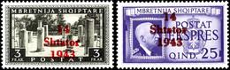 7026 1Q. - 3Fr. Freimarken, 14 Werte - Kompletter Satz, Tadellos Postfrisch, Gepr. Krischke Und Fotobefund Brunel VP (20 - Albania