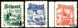 7057 25 Öre - 1 Krone, Sauber Gestempelter  Satz, 1 Kr. Vom Linken Rand, Pracht, Mi. 1.500.-, Katalog: I/III O - Denmark