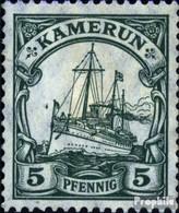 Cameroun (Allemand. Colonie) 21II Guerre D'impression Avec Charnière 1905 Expédier Imperial Yacht Hohenzollern - Kolonie: Kamerun