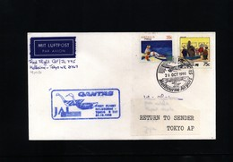 Australia 1990 Quantas First Flight Melbourne - Tokyo - Primi Voli