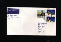 Australia 1991 First Flight Cairns - Tokyo - Primi Voli