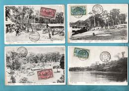 Republique Centrafricaine Congo Français Bangui Lot De 4 Cartes Postales ( Cartes Abimées Vendues Dans L ' Etat ) - Centrafricaine (République)