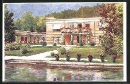 Künstler-AK E.F. Hofecker: Pörtschach Am See, Partie Mit Villa Christa - Österreich