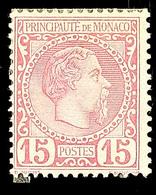 10629 15 C. Mattrosa, Ungebr. Ohne Gummi, Mi. Für * 360.-, Katalog: 5 (*) - Monaco