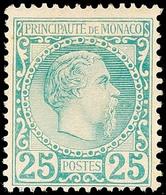 10630 25 C. Fürst Charles III., Vollz_hniges, Sauber Ungebrauchtes Kabinettstünck, Katalog: 6 * - Monaco