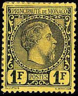 10633 1 Fr. Schwarz A. Gelb, Tadellos Ungebraucht, Mi. 1.800.-, Katalog: 9 * - Monaco