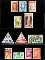 10635 10 C. Bis 100 Fr. Heiliges Jahr 1951, Tadellos Gestempelt, Mi. 80.-, Katalog: 429/40 O - Monaco