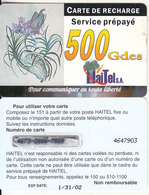 HAITI - Orchids, HaiTel Recharge Card 500 Gdes, Exp.date 31/01/02, Used - Haïti