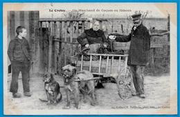TOP CPA AK 80 LE CROTOY Somme - Un Marchand De Coques Ou Hénons ° Collect. F. Poidevin (Voiture à Chien) - Le Crotoy
