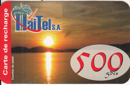 HAITI - Sunset, HaiTel Recharge Card 500 Gdes, Exp.date 11/10/09, Used - Haiti
