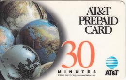USA - Globe, AT&T Prepaid Card 30 Min, Used - United States