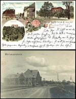 11510 1897-1909, Partie Mit Neun Gebrauchten Ansichtskarten Aus Reval (5 Verschiedene), Narva (1897 Mit Vier Ansichten), - Estonia