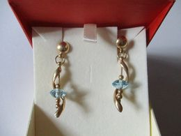 Orecchini In Oro Con Topazi Azzurri - Orecchini