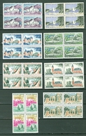 FRANCE 1961-62 1007-1013 + 1026 Views Dunkirk Blocks Of Four MNH A04s - France