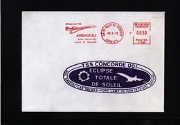 France / Frankreich 1973 Concorde Total Eclipse Of The Sun - Concorde
