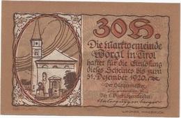 Austria 30 Heller 31-12-1920, Worgl (Tirol) UNC - Austria