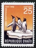 47776 (polar, Birds) Haiti 1958 Penguin 25c (instead Of 20c)  'Maryland' Perf 'unused' Forgery - Cinderellas