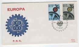 BELGIUM 1967 Europa First Day Cover Mi. Nr. 1472-1473 - Europa-CEPT