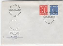 SWITZERLAND 1966 Europa First Day Cover Mi. Nr. 843-844 - Europa-CEPT