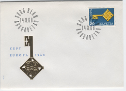 SWITZERLAND 1968 Europa First Day Cover Mi. Nr. 871 - Europa-CEPT