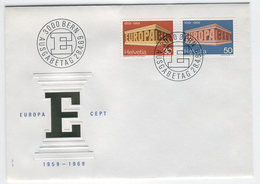 SWITZERLAND 1969 Europa First Day Cover Mi. Nr. 900-901 - Europa-CEPT