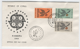 CYPRUS 1965 Europa First Day Cover Mi. Nr. 258-260 - Europa-CEPT