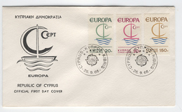 CYPRUS 1966 Europa First Day Cover Mi. Nr. 270-272 - Europa-CEPT