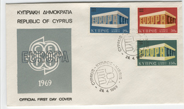 CYPRUS 1969 Europa First Day Cover Mi. Nr. 319-321 - Europa-CEPT