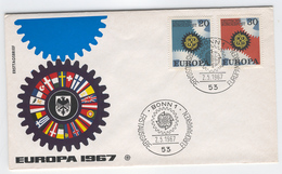 GERMANY 1967 Europa First Day Cover Mi. Nr. 532-533 - Europa-CEPT