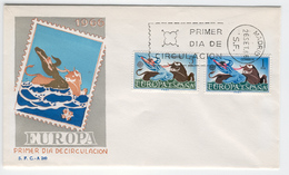 SPAIN 1966 Europa First Day Cover Mi. Nr. 1642-1643 - Europa-CEPT