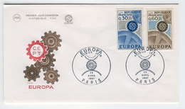 FRANCE 1967 Europa First Day Cover Mi. Nr. 1578-1579 - Europa-CEPT