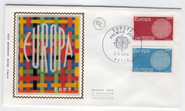FRANCE 1970 Europa First Day Cover Mi. Nr. 1710-1711 - Europa-CEPT