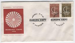 GREECE 1966 Europa First Day Cover Mi. Nr. 919-920 - Europa-CEPT