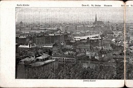 ! Panorama Klapp Ansichtskarte Aus Wien, Prater, Riesenrad, Eisenbahn, Nordbahnhof, Österreich - Prater