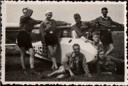 ! Kleines Foto, Segelflugzeug, Format 6 X 9 Cm, Photo, Segelfliegen, Segelflieger, 3. Reich - Fliegerei
