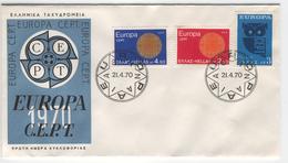 GREECE 1970 Europa First Day Cover Mi. Nr. 1040-1042 - Europa-CEPT