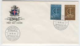 ICELAND 1966 Europa First Day Cover Mi. Nr. 404-405 - Europa-CEPT