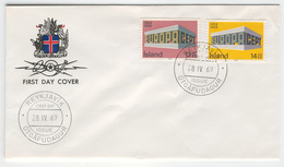 ICELAND 1969 Europa First Day Cover Mi. Nr. 428-429 - Europa-CEPT